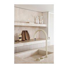 Bathroom Interior Design, Kitchen Interior, Modern Interior, Interior Architecture, Kitchen Decor, Kitchen Design, Bronze Kitchen, Kitchen Taps, Joseph Dirand