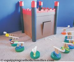 castle and catapult craft! | Europe study