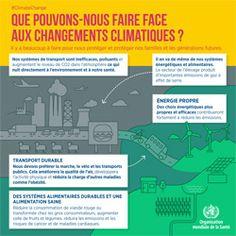 7 juilet 2016 - Infographie de l'Organisation mondiale de la Santé (OMS) sur l'impact sanitaire des changements climatiques