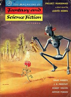 scificovers:  The Magazine of Fantasy and Science Fiction October 1955. Cover art by Mel Hunter.