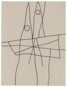 Hans Arp and Sophie Taeuber-Arp. Duo-dessin, 1939. Ink on paper.