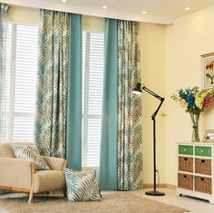 2016 new hawaiian tropic curtains for living room rideaux pour le salon window curtain cortinas living - Rideaux Salon