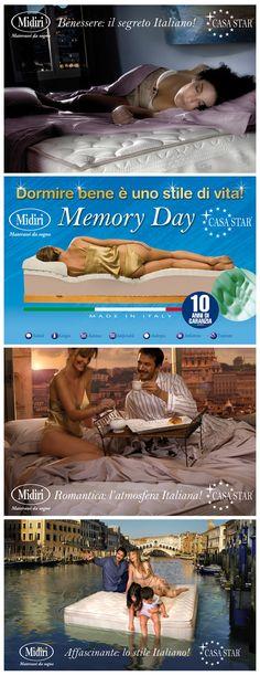 #poster per interno punto vendita #midiri #materassi #memory