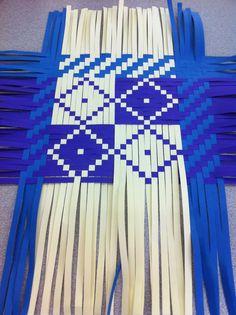 Plaited basket in progress by Karen Lawrence