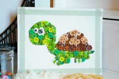 Happy Turtle 3D Button Art by allthatjazzy on Etsy, $20.00