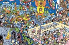 Keep Searching! But where are Wally, Wenda and Wizard Whitebeard? Wall E, Spot The Difference Printable, Ou Est Charlie, Can You Find It, Wheres Wally, Right Brain, Relief Society, Children's Book Illustration, Timeline Photos