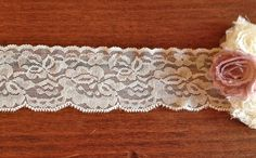 WIDE Stretch Lace Lightweight IVORY 2 inch 2 yards by frogfeathers, $2.99