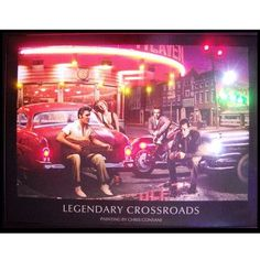 Neonetics Retro Legendary Crossroads Neon LED Framed Vintage Advertisement
