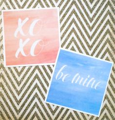 DIY Valentine Printables. #watercolor | http://jillianastasia.com/printable-valentines/