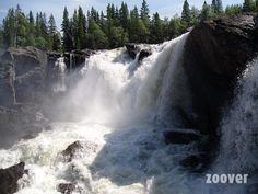 Watervallen Undersaker, Zweden #zweden #scandinavie #watervallen