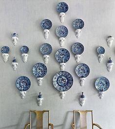 Conexão Décor www.conexaodecor.com Pratos na parede decorando, no blog da Conexão Décor