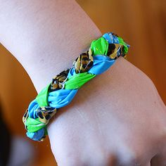 Spotted Leopard Bracelet made from Duck Brand Printed Duck Duct Tape Patterns at FindTape.com