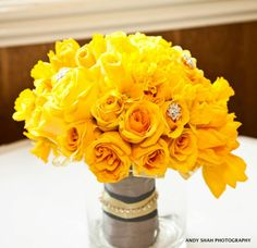 Just Look at this Gorgeous Sunny Summer 2012 bouquet designed by yours truly!!    ♥ Kismet Events  http://www.andyshahphotography.com/  #summer #2012 #wedding #yellow #weddingflowers