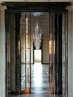 Traditional Style - Elegant Decor Details brass french doors-nice with the marble Amazing Architecture, Architecture Details, Interior Architecture, Interior And Exterior, Interior Design, Modern Interior, Interior Decorating, Door Design, House Design