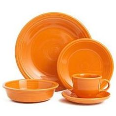 Fiestaware in Tangerine_______                                         Wants: Dinner Plate, Salad Plate, Cereal Bowl