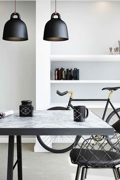 The modern home requires a bicycle close at hand for that quick ride.: