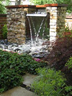 Die 110 besten Bilder von Wasserfall Garten | Backyard ponds ...