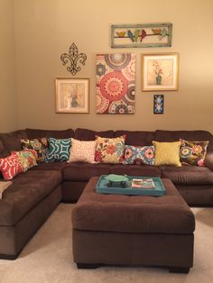 My colorful living room