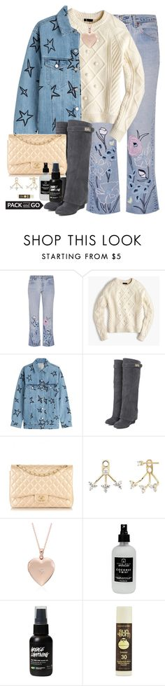 """""""Untitled #1631"""" by purplicious ❤ liked on Polyvore featuring Bliss and Mischief, J.Crew, Être Cécile, WithChic, Chanel, EF Collection, Blue Nile, Little Barn Apothecary and Sun Bum"""