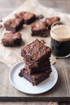 These are the BEST, one bowl, crackly top, dense and fudgy beer brownies ever. Step by step with photos.