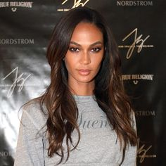 Joan Smalls' layers help to shape the hair, and this subtle, effortless style is a completely modern take on the traditional cut.