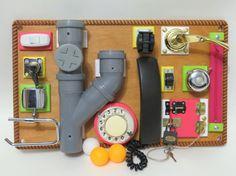 Planche à fabriqué sur commande l'éducation préscolaire Montessori enfant bébé apprentissage jouet moteur compétences des besoins spéciaux cadeau éducatif occupé planche à jeu naturel eco