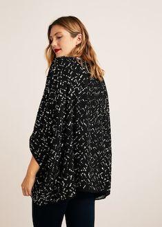 Caftan brodé sequins Mango France, Kimono Jacket, High Neck Dress, Sequins, Jackets, Dresses, Fashion, Big Sizes, Long Cut