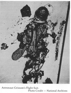 Astronaut Gus Grissom's space suit after the tragic Apollo 1 fire.