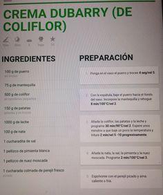 Crema Dubarry- coliflor