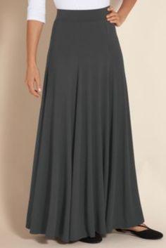 Knit Skirt - Relaxed Fit Skirt, Elastic Waist Knit Skirt, Basic Skirt | Soft Surroundings