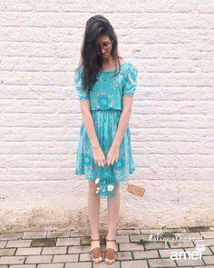 Um amor de vestido, um romance azul  #lojaamei #etiquetaamei #vestido #azul #romance #vintage #cute