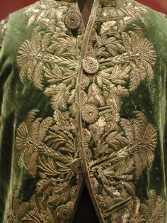 Dettagli di una giacca da corte per ufficiali generali