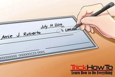 How to write a check correctly