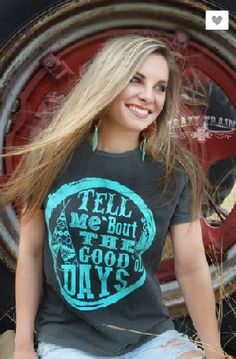 Crazy Train Tell Me 'Bout The Good 'Ol Days Tee - It's A Cowgirl Thing Boutique