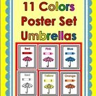 Colors Poster Set  - 11 different color posters ... color set and black & white ...