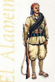 Regio Esercito - Caporale del 14° Battaglione Coloniale Del Meghreb (libici), El Alamein, 1942