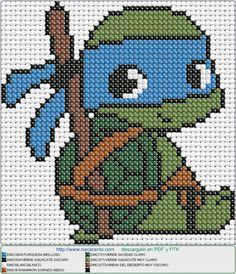 Leonardo EN PUNTO DE CRUZ. Cross stitch pattern