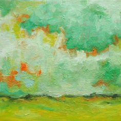 abstract landscape paintings by Hilary Butler (retail for around $600)