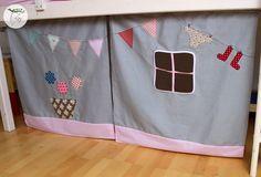 Vorhang Etagenbett Selber Nähen : Hochbett vorhang a vorhänge für kinder curtains room und kids