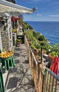 Restaurant at Corniglia's Cliff Edge, Cinque Terre, Italy