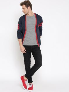 Superman #Navy #Cardigan #men #Fashion