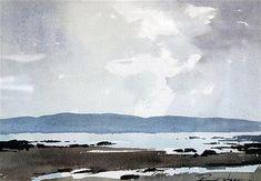 <b>Edward Wesson (1910-1983)</b> <br /> watercolour, <br /> Arun coast towards Kyntire, <br /> signed, <br /> <i>9.5 x 13.5in.</i>