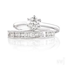 Diamond Collection: White Gold and Diamond Engagement and Wedding Rings By NWJ *Valid for Wedding Vibes] Best Engagement Rings, Dream Wedding, Wedding Dreams, Gold Diamond Rings, Fine Jewelry, Jewellery, Jewelry Accessories, White Gold, Wedding Rings