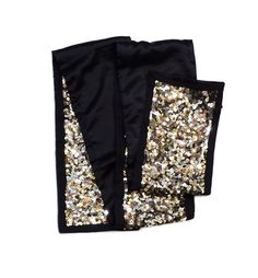 Theory Brown, Gold & Silver Sequin Scarf
