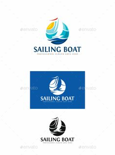 Sailing Boat Logo Design Template - Objects Logo Template Vector EPS, AI Illustrator. Download here: https://graphicriver.net/item/sailing-boat/19144007?ref=yinkira