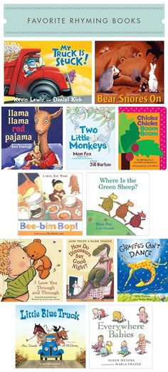 My Favorite Rhyming Books Childrens Reading Corner, Childrens Books, Toddler Preschool, Toddler Activities, Good Books, My Books, Teaching Reading, Learning, Book Projects