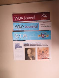10-year WDA Journal evolution - so cool to see the changes in the masthead