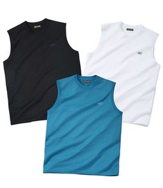 Lot de 3 Tee-Shirts Sans Manches #summer #travel #voyage #atlasformen #formen #discount #shopping #ootd #outfit