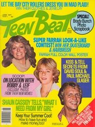 """Teen Beat magazine - this one mentions the Bay City Rollers who sang """"S-A-T-U-R-D-A-Y Night..."""""""