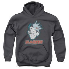 ARCHIE COMICS/SLACKER-YOUTH PULL-OVER HOODIE - CHARCOAL -